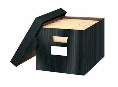 Bankers Box STORFILE Decorative Medium-Duty Storage Boxes, FastFold, Lift-Off...