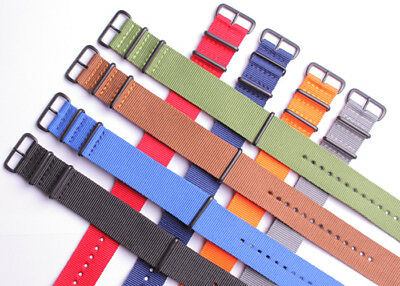 wholesale Nylon casual canvas Watch Strap Wristwatch Band DB Black buckle Fabric