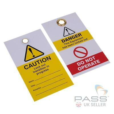 Lockout Tagout Tags - 'Transition in Progress' - Pack of 10