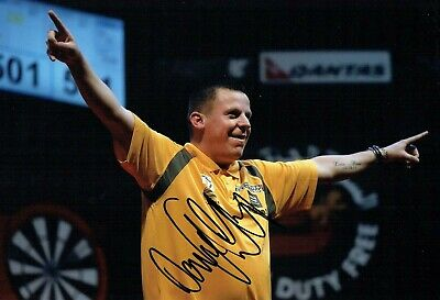 Dave CHISNALL CHIZZY SIGNED Autograph Darts Player 12x8 Photo 3 AFTAL COA