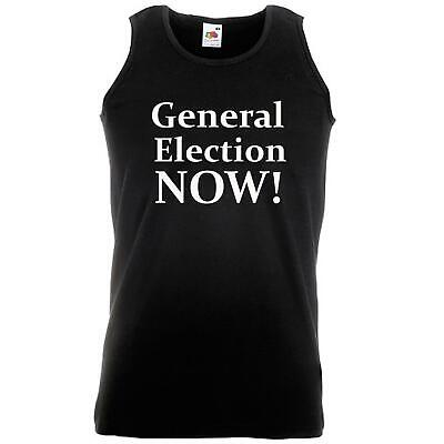 Unisex Black General Election Now Vest Boris PM Brexit Prime Minister BoJo