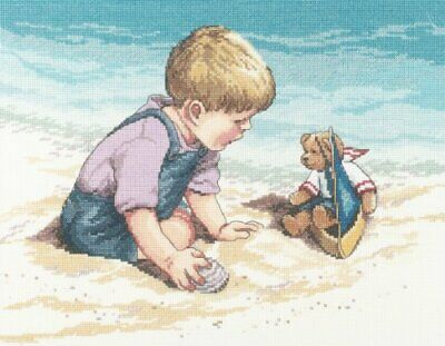 Janlynn ct2552081 Seashore Fun Counted Cross Stitch Kit-13-34 X10-34 14 Count