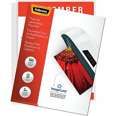Fellowes Thermal Laminating Pouches, ImageLast, Jam Free, Letter Size, 5 Mil,...