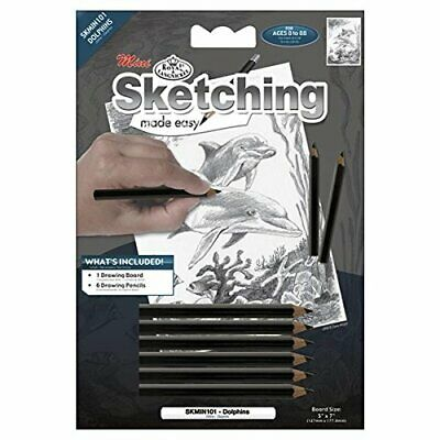 Royal Brush Mini Sketching Made Easy Kit 5 by 7Inch Dolphins