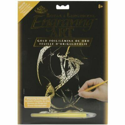 Royal Brush GOLDFL-26  Gold Foil Engraving Art Kit, 8 by 10-Inch, 3 Headed Dr...