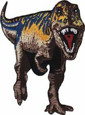 Application Purple and Brown T-Rex Patch