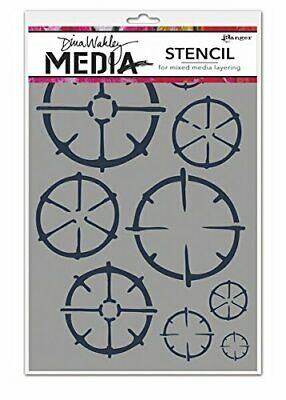 Ranger Wheels Dina Wakley Media Stencils, 6 by 9