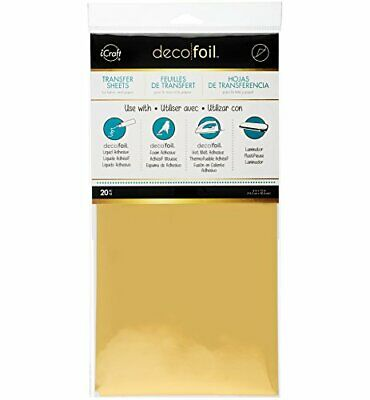 iCraft Therm O Web Deco Foil (Pack of 20), Gold