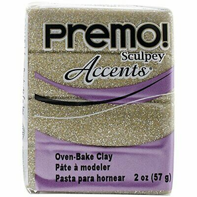 Sculpey Premo Accent Clay, Yellow Gold Glitter