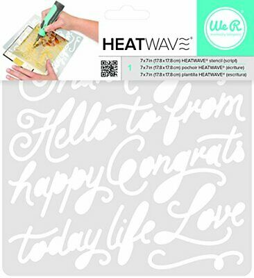 American Crafts We R Memory Keepers Heatwave Script Stencil, 7 x 7&quot
