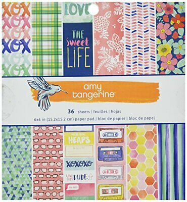 American Crafts 373986 Amy Tan Better Together 6 X 6 Inch 36 Sheet Paper Pad