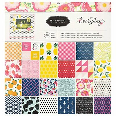 American Crafts Jen Hadfield Everyday Patterned Paper Pad by Pebbles Inc.  12...