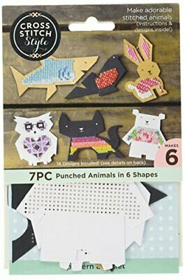 3 Birds 60046 Animal Shapes Punched For Cross Stitch-6Pkg
