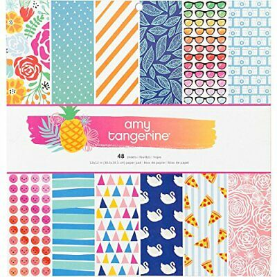 American Crafts 378743 Amy Tan on a Whim Paper Pad 12 X 12 48 Sheet Paper Pad