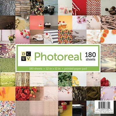American Crafts 12 x 12 Inch Photo Real 180 Sheets Die Cuts with a View Stacks