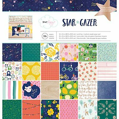 American Crafts 12 x 12 Inch 36 Sheet Paper Pad with Copper Foil Dear Lizzy S...
