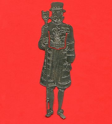 """Silver Plated Bookmarker """" Beefeater """" Yeoman Guard Extraordinary 110 mm x 37 mm"""