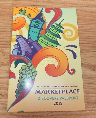 Disney Epcot International Food & Wine Festival Marketplace 2013 Passport