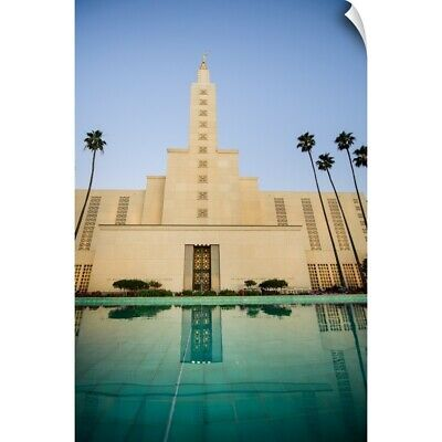 """""""Los Angeles California Temple, Pool Reflection, Los Angeles, California"""" Wal"""