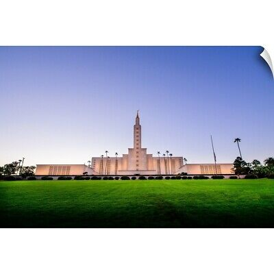 """""""Los Angeles California Temple, Front and Lawn, Los Angeles, California"""" Wall"""