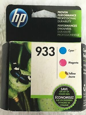 HP #933 Color Ink Cartridges Combo Pack Genuine New
