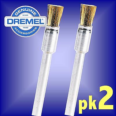 Dremel 537 Brass Brush Wheel 3.2mm hobby multi tool rotary clean polish bristle