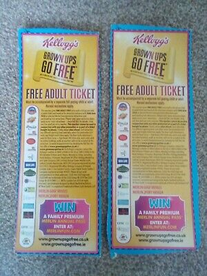 2 x Kellogg's 'Grown Ups Go Free' Vouchers for Merlin Attractions - see descript