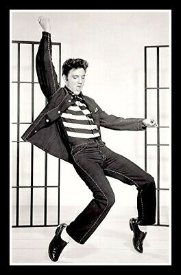 "4.5"" Elvis Presley Jailhouse Rock vinyl sticker. Movie decal for car or laptop."