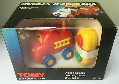 Droles d'Animaux Hippopotame Camion Pompiers - Tomy 1046 - 1980's - Neuf