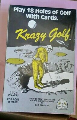 NOS FACTORY SEALED KRAZY GOLF BEE CARD GAME BY B&B GAMES VINTAGE 80s FREE SHIP