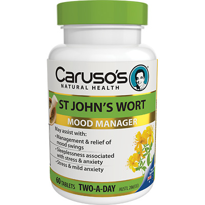 2 x Caruso's St John's Wort 60 Tablets BEST PRICE FREE POSTAGE