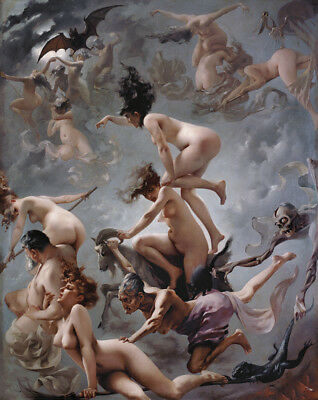 """oil painting handpainted on canvas """"Witches going to their Sabbath  """"@N15083"""