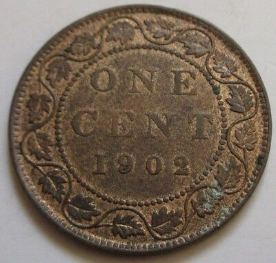 1902 Canada Large Cent Coin. NICE GRADE (RJ316)