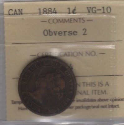 1884 Canada Large Cent Coin. ICCS Certified