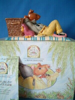 Wind In The Willows By Royal Doulton ** Sprawling By The River **