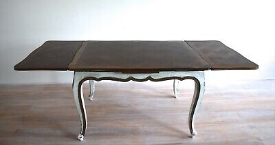 Antique French Parquetry Extending Draw Leaf Dining Table