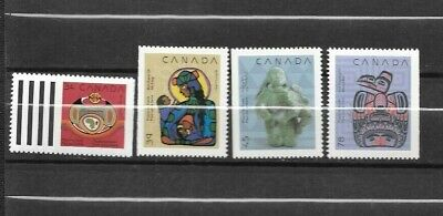 pk45271:Stamps-Canada #1294-1297 Christmas Native Nativity Issues Set - MNH