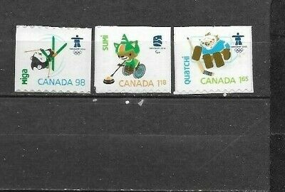 pk45317:Stamps-Canada #2308-2310 Olympic Mascots Definitive Issues   - MNH