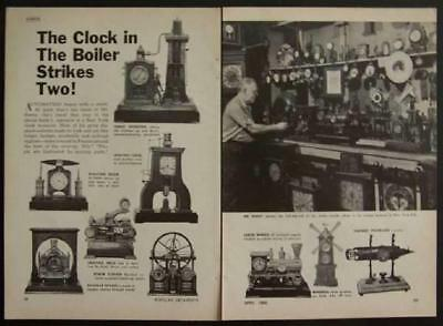 New York Clock Museum early 1900's French clocks 1969 vintage pictorial