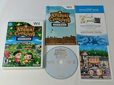 Animal Crossing City Folk Complete for Nintendo Wii **TESTED & WORKS GREAT**