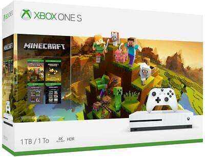 Microsoft Xbox One S 1TB 4K Gaming Console Minecraft Creators Bundle - White