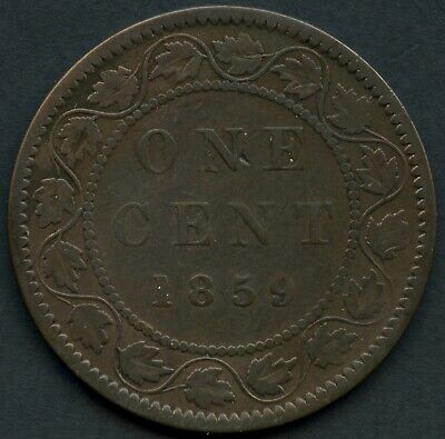 1859 ( N9 DP2 ) Canada Large 1 Cent Coin