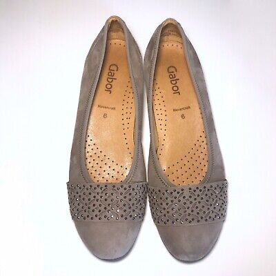 GABOR HOVERCRAFT FLAT Suedeleather Shoes Size 6 $26.50