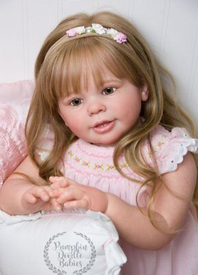 CUSTOM ORDER Reborn Doll Baby Girl Katie Marie by Ann Timmerman Toddler