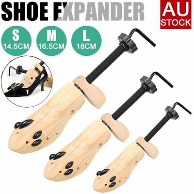 2-Way Wooden Shoes Stretcher Expander Shoe Tree Unisex Bunion Plugs