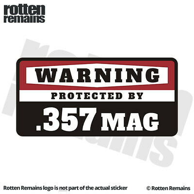 .357 Vinyl Decal Sticker Car Window Wall Bumper Gun Magnum Ammo Home Security