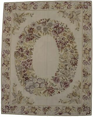 Aubusson Needlepoint Hand-Hooked 8X10 Chinese Oriental Rug Home Décor Carpet