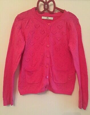 Marks & Spencer Pink Cotton Cardigan. Aged 6-7 Years. Immaculate.