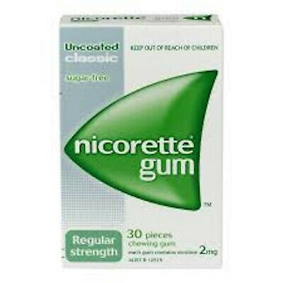 2 X Nicorette Craving Control 2mg Chewing Gum 30 Pieces Classic Sugar Free