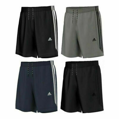 Adidas Essential 3 Stripe Chelsea Mens Shorts Original Climalite Gym S M L XL XX